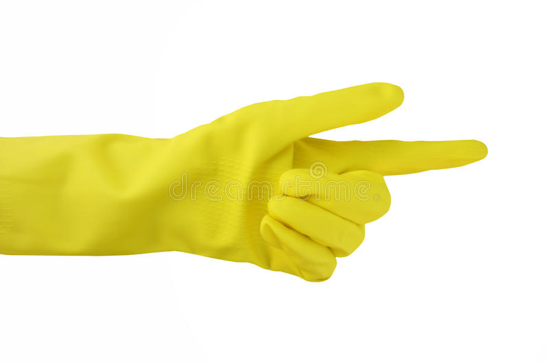 Pointing glove stock photo