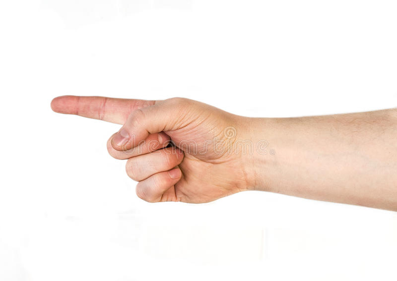 POinting hand stock images