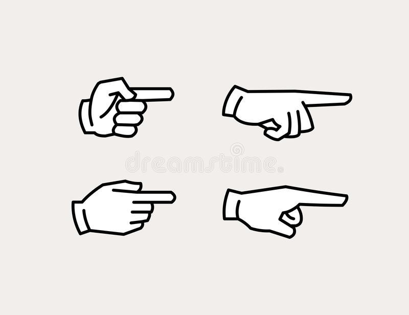 pointing hand icons stock vector illustration of button 92630238 pointing hand icons stock vector