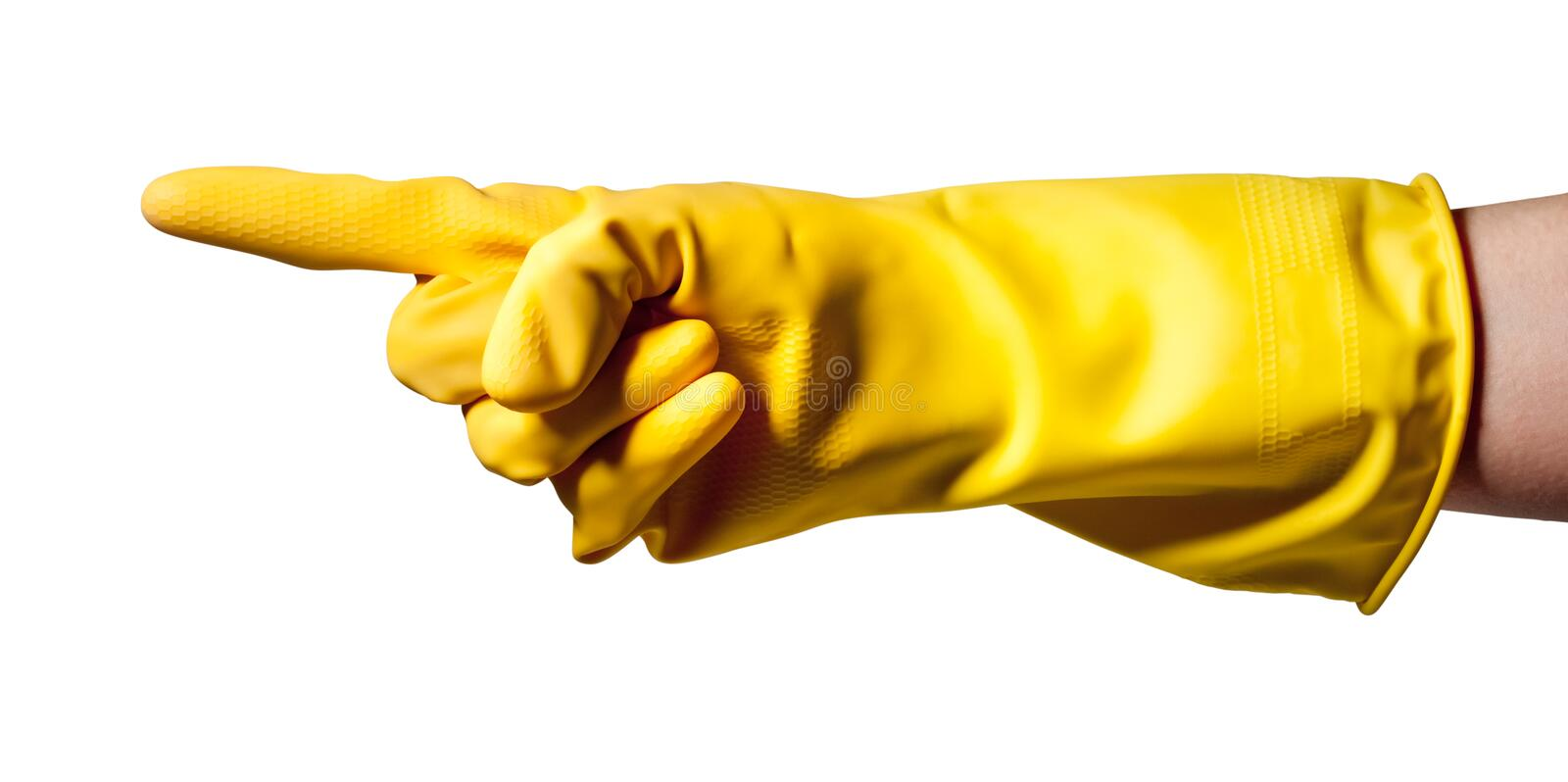 Download Pointing Hand Wearing Rubber Glove Royalty Free Stock Photo - Image: 20473445