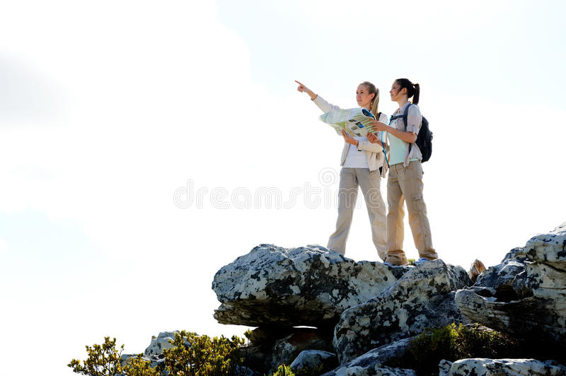 Download Pointing outdoors hike stock image. Image of hike, holiday - 22774387