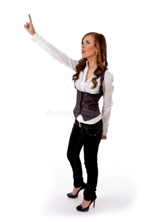 pointing side view woman στοκ εικόνες με δικαίωμα ελεύθερης χρήσης