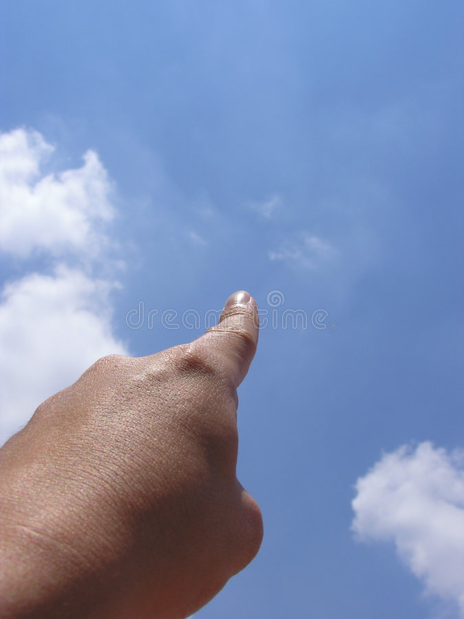 Pointing at sky