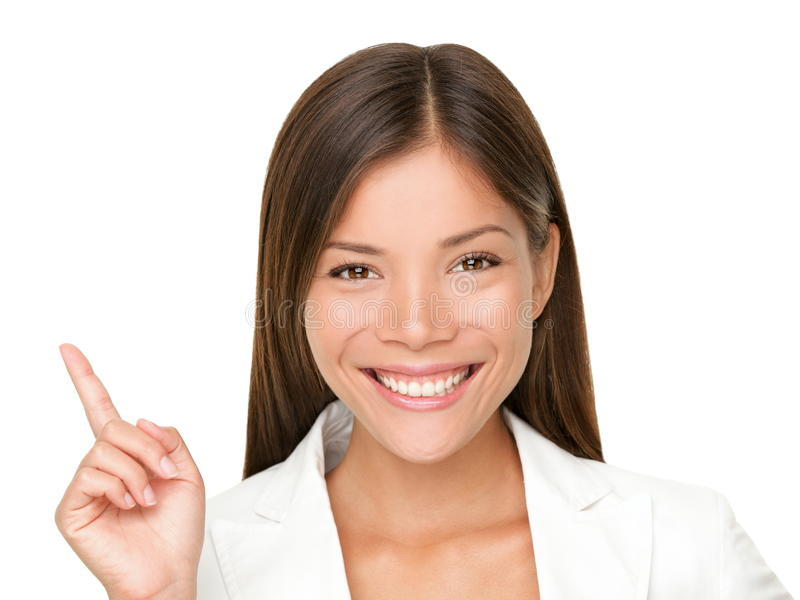 Pointing Up Woman Royalty Free Stock Photography