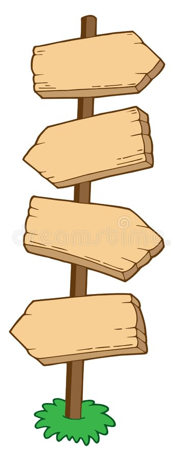 Download Pointing wooden signs stock vector. Illustration of artwork - 5881207