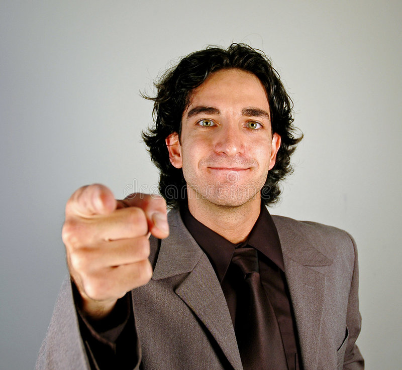 Pointing at you royalty free stock photography