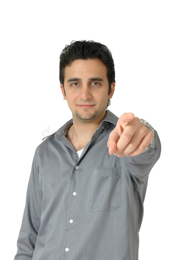 Pointing At You stock image