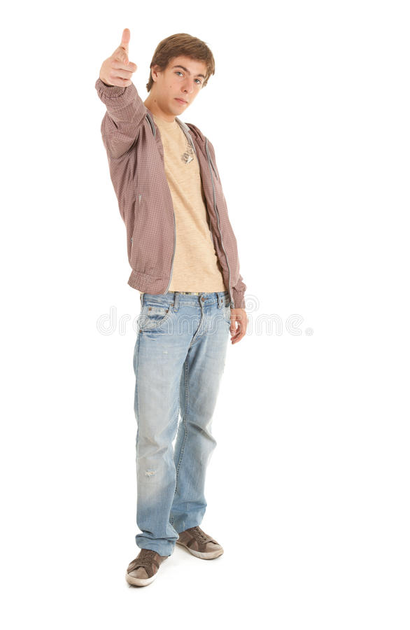 Pointing You Young Man, Full Length Stock Images