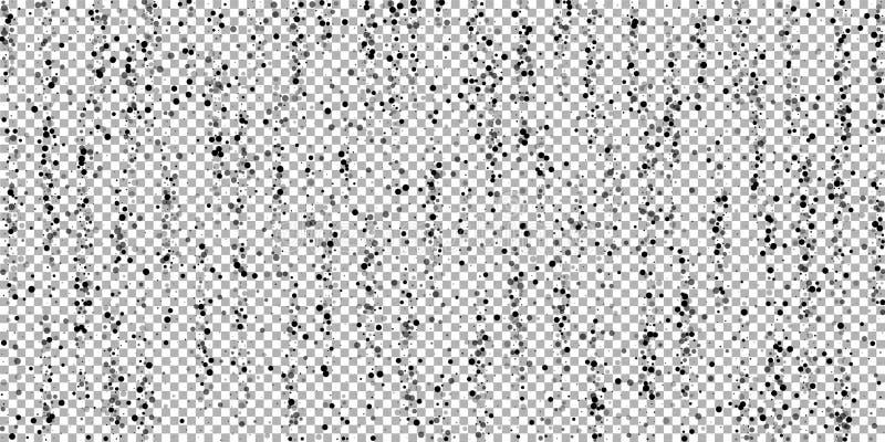 Points arrières denses dispersés L'obscurité dirige la dispersion illustration de vecteur