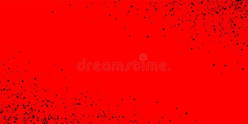 Points arrières denses dispersés L'obscurité dirige la dispersion illustration stock