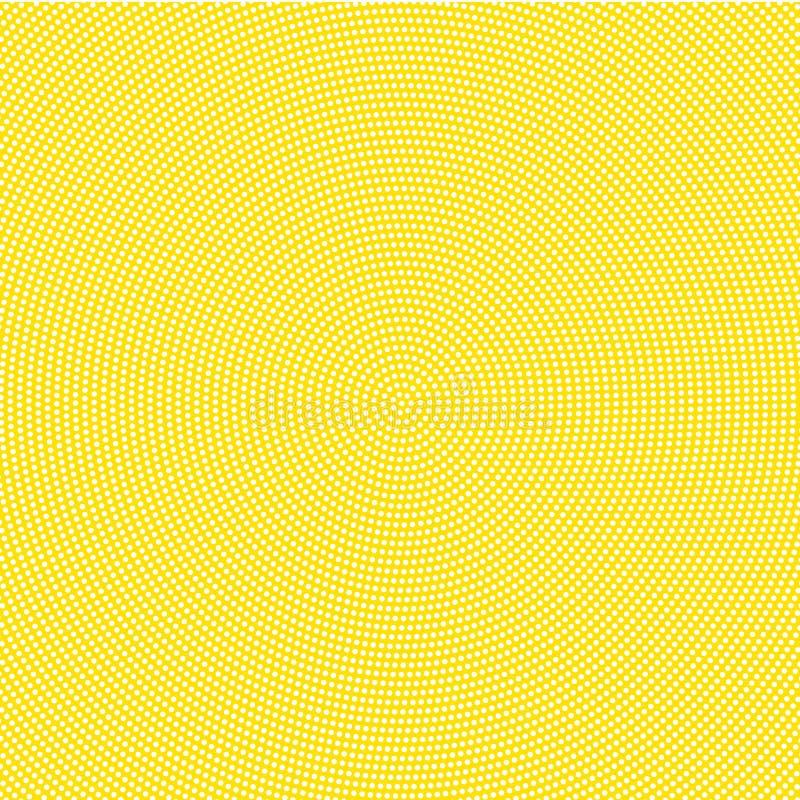 Points blancs sur le fond jaune illustration libre de droits
