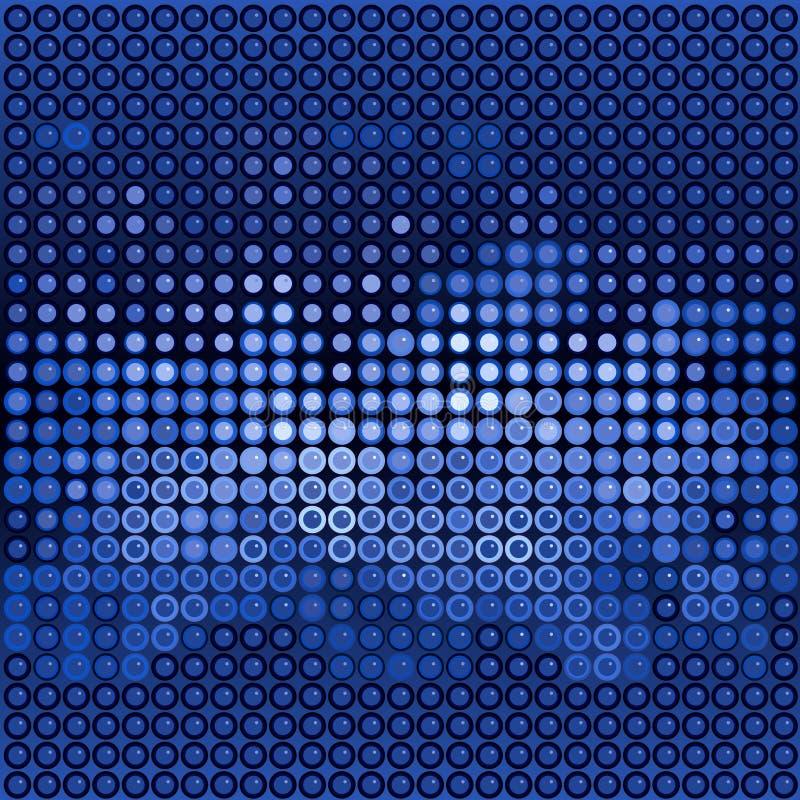 Points bleus de lustre illustration stock
