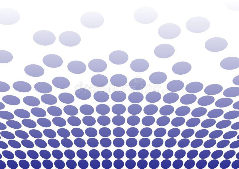 Points bleus pour des milieux illustration stock