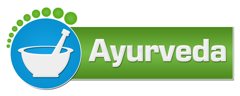 Points circulaires vert-bleu d'Ayurveda illustration libre de droits