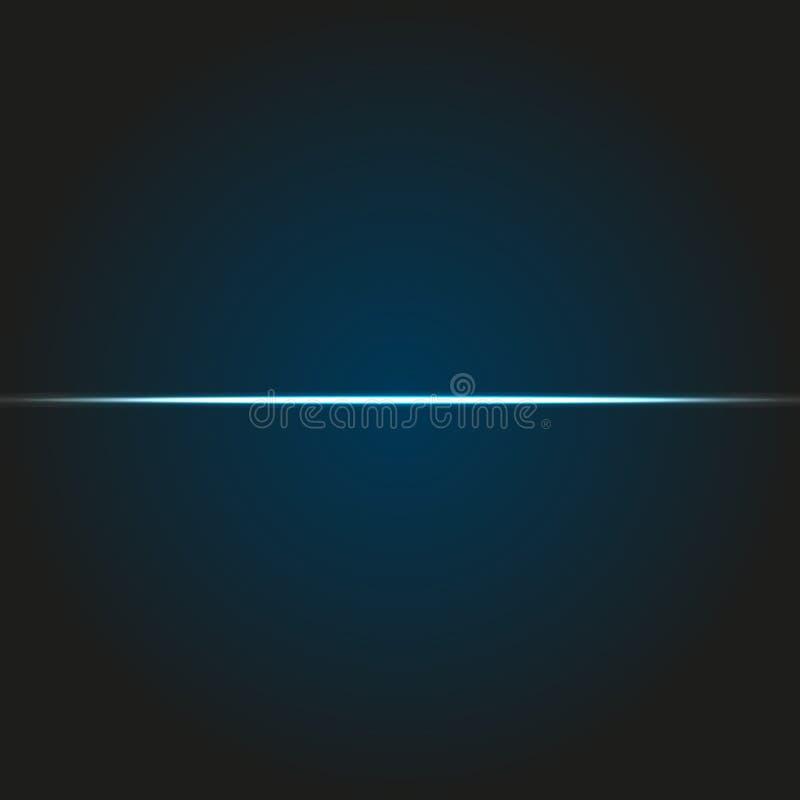 Points culminants bleus Effets de la lumière rougeoyants traînée illustration libre de droits