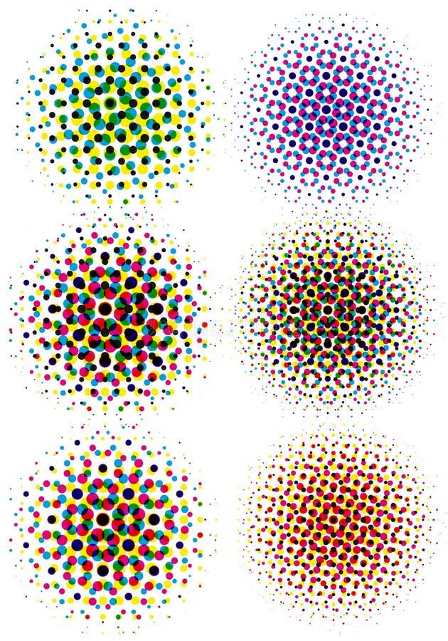 Points d'image tramée de Cmyk illustration libre de droits