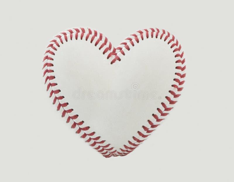 Points de base-ball sous forme de coeur photos libres de droits