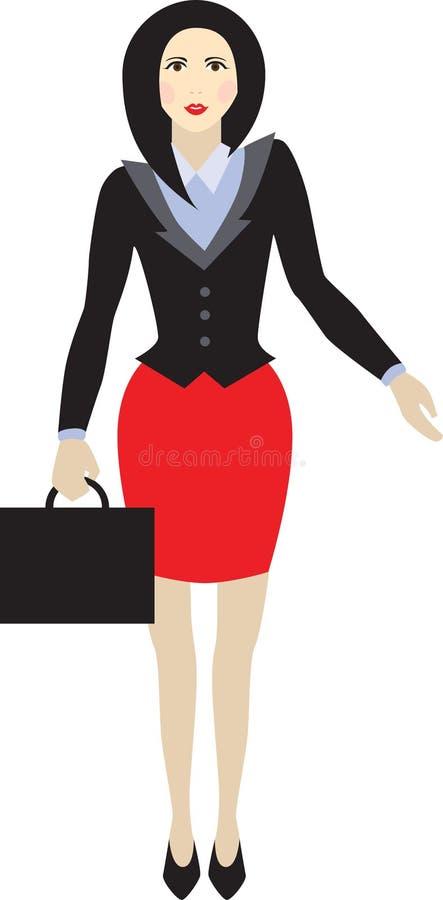 Points de femme d'affaires avec sa main photographie stock libre de droits