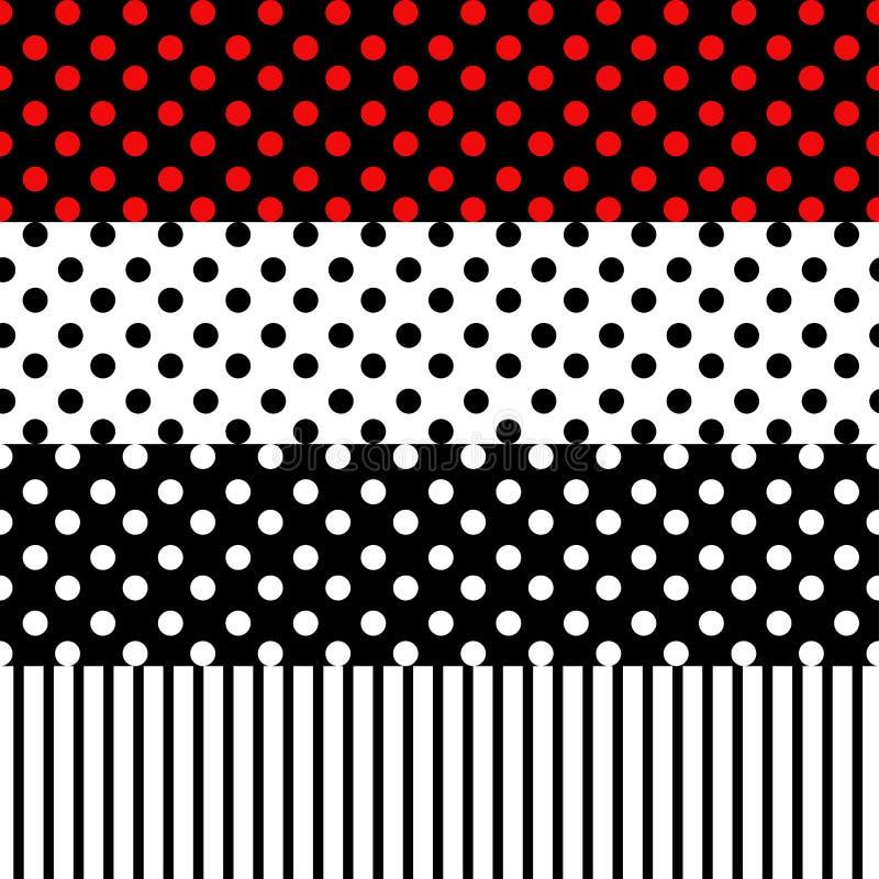 Points de polka et lignes modèle sans couture illustration libre de droits