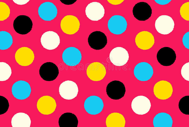 Points de polka sans couture géométriques de fond de modèle illustration stock