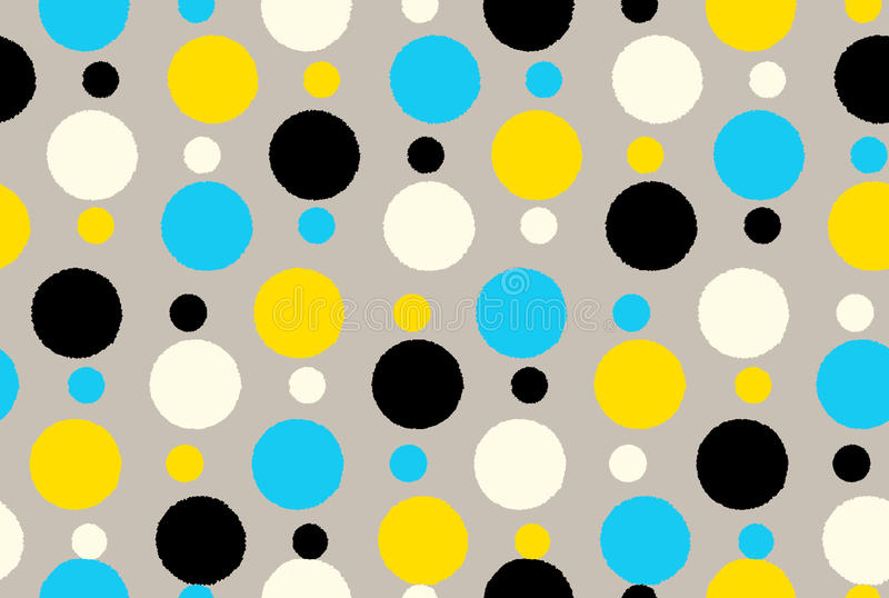 Points de polka sans couture géométriques de fond de modèle illustration libre de droits
