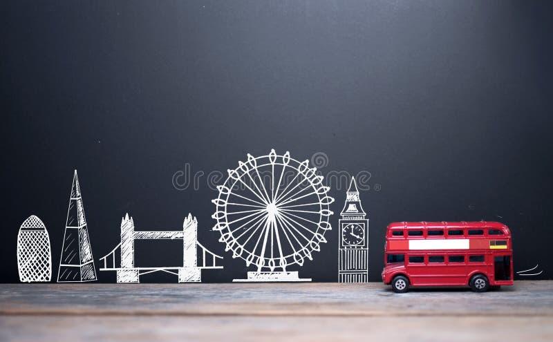 Points de repère d'horizon de Londres images libres de droits