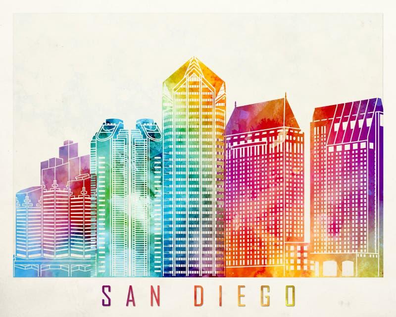Points de repère de San Diego illustration libre de droits