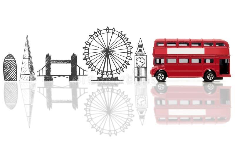 Points de repère de touriste de Londres image stock