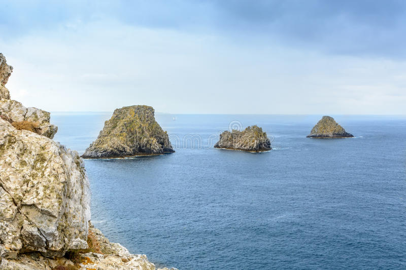 Download Points De Stylo-Hir, Ile De Crozon, La Bretagne, France De Presque Photo stock - Image du falaise, péninsule: 76075764