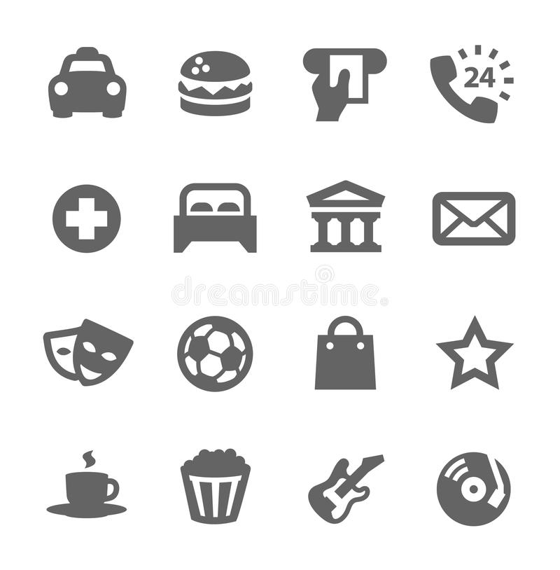 Download Points of interest. stock vector. Image of burger, pointer - 38841828