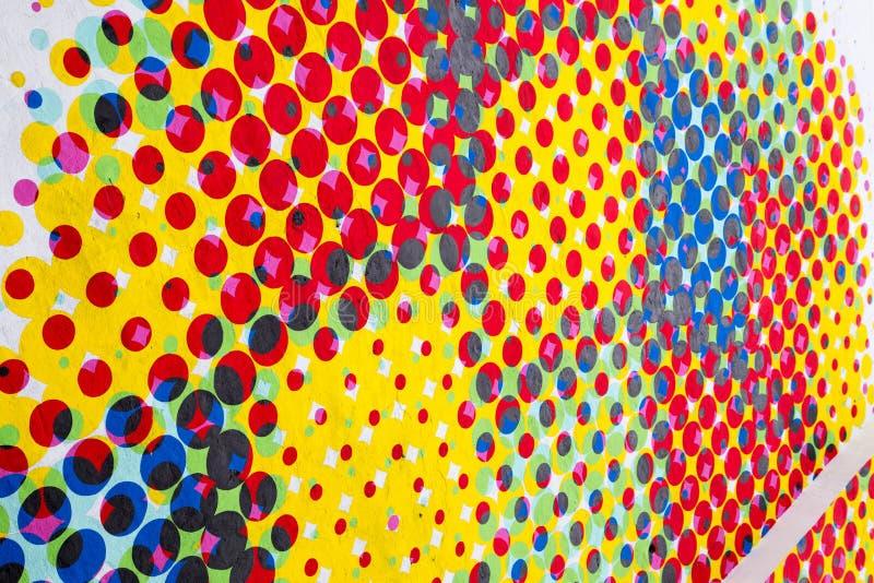 Points peints sur le mur images libres de droits