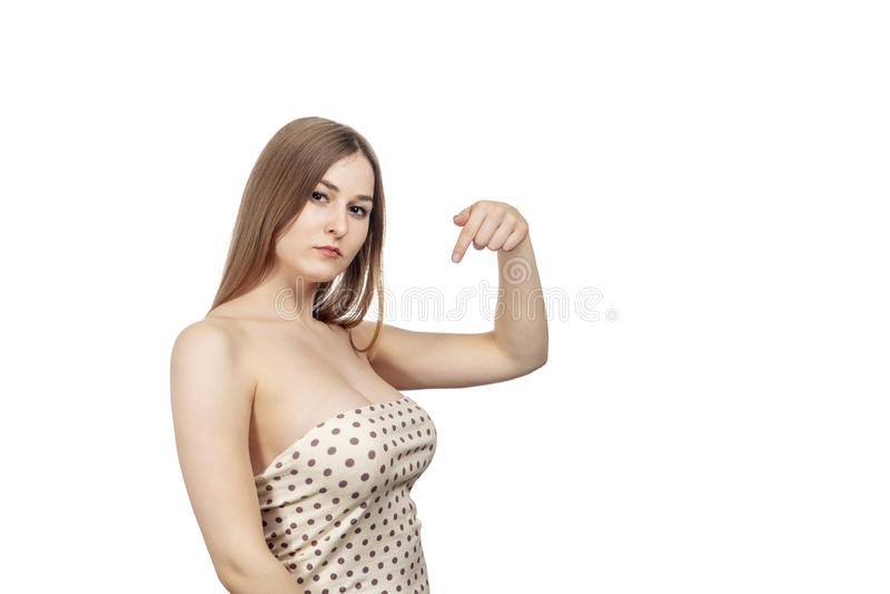 Points sexy de femme à elle-même image libre de droits