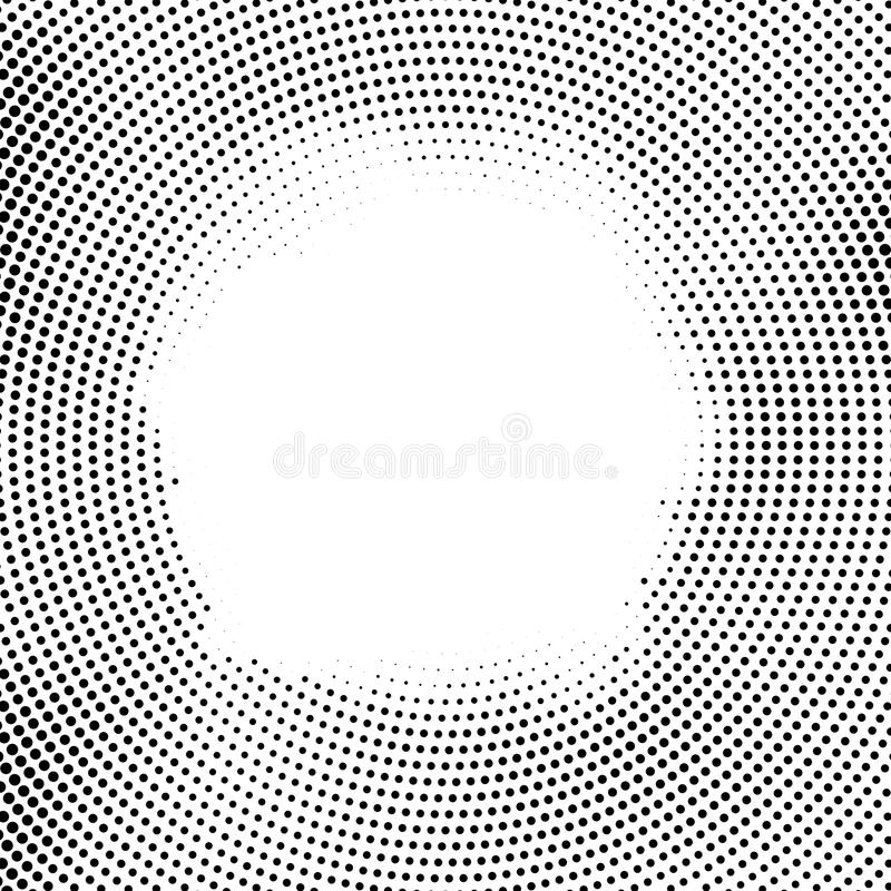 Points tramés de vecteur Effet tramé concept de fond Texture de vignette Points de cercle d'isolement sur le fond blanc illustration stock