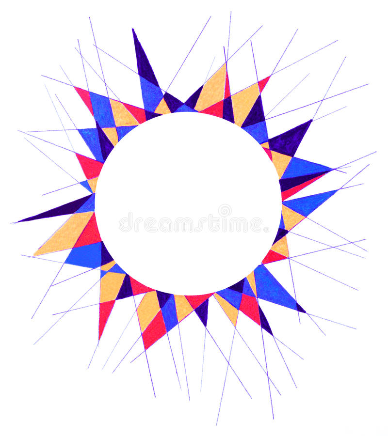 Free Pointy Circular Frame Stock Photography - 98107322