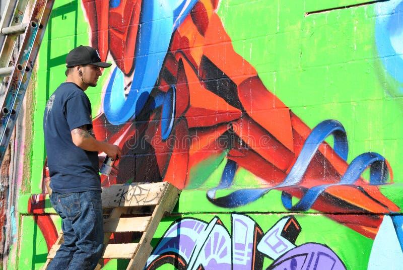pointz för fem grafitti royaltyfria foton