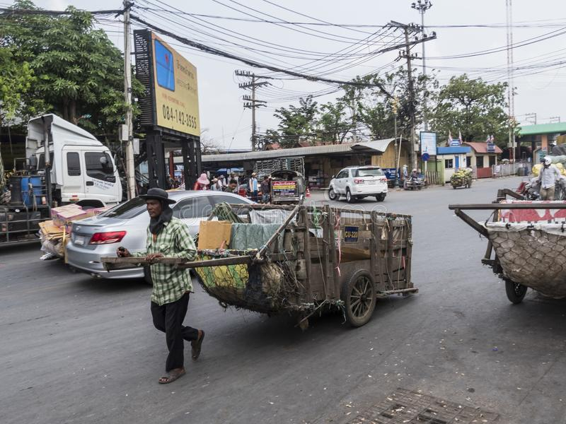 Poipet border crossing Cambodia-Thailand stock photography