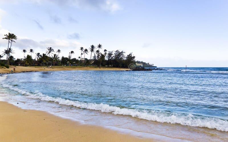 Poipu strand arkivfoto