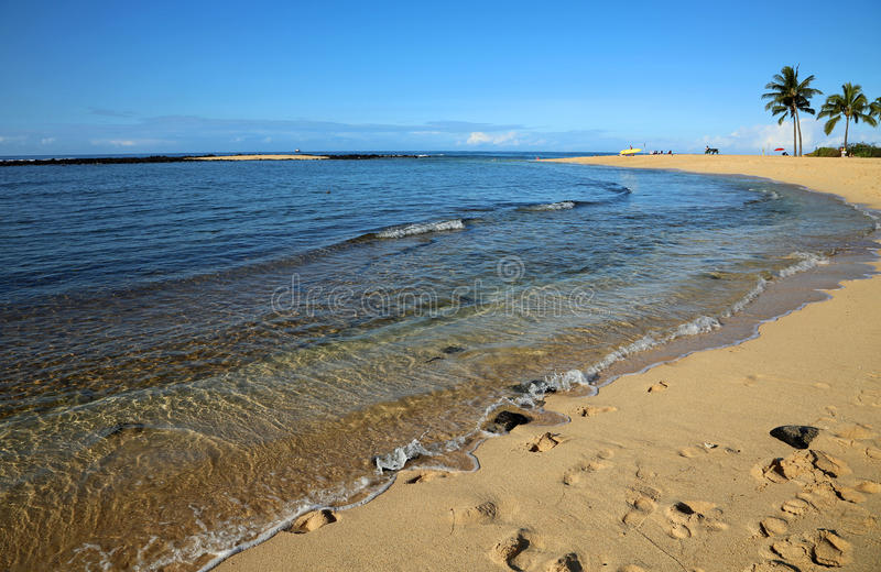 Poipu strand royaltyfri foto