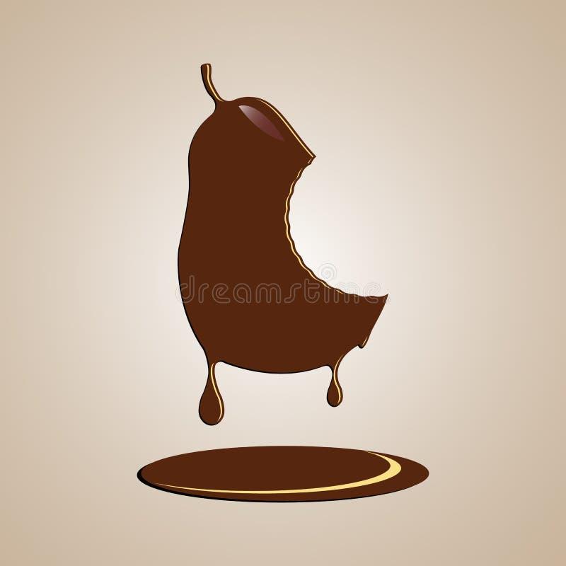 Poire de chocolat illustration de vecteur