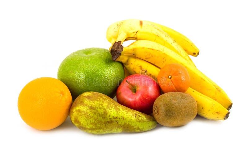 Poire et pomme avec l'orange images libres de droits