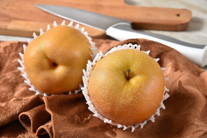 Poires délicieuses d'Apple de gourmet photo stock