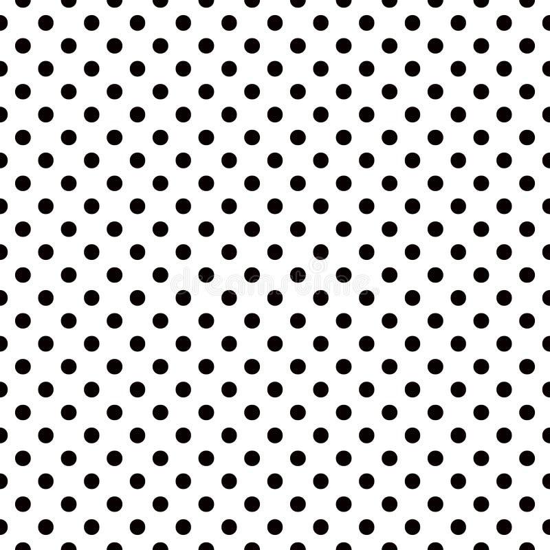 Pois neri su fondo bianco illustrazione di stock - Telas de flamenca online ...