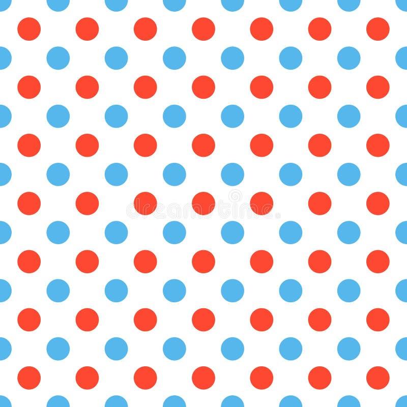 Pois rossi blu illustrazione di stock