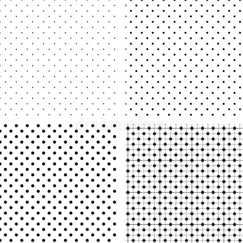 Pois sem emenda do teste padrão brancos e pretos ilustração do vetor