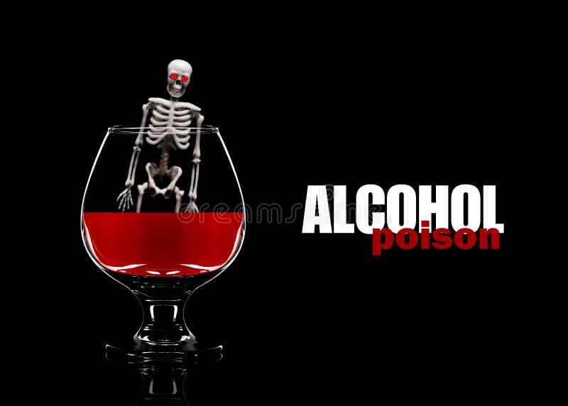 Poison d'alcool Décès de consommation d'alcool photo stock