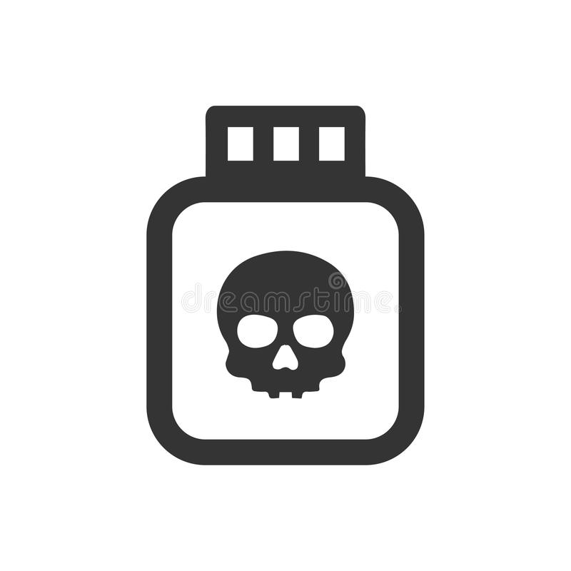 Poison Icon. Beautiful Meticulously Designed Poison Icon royalty free illustration