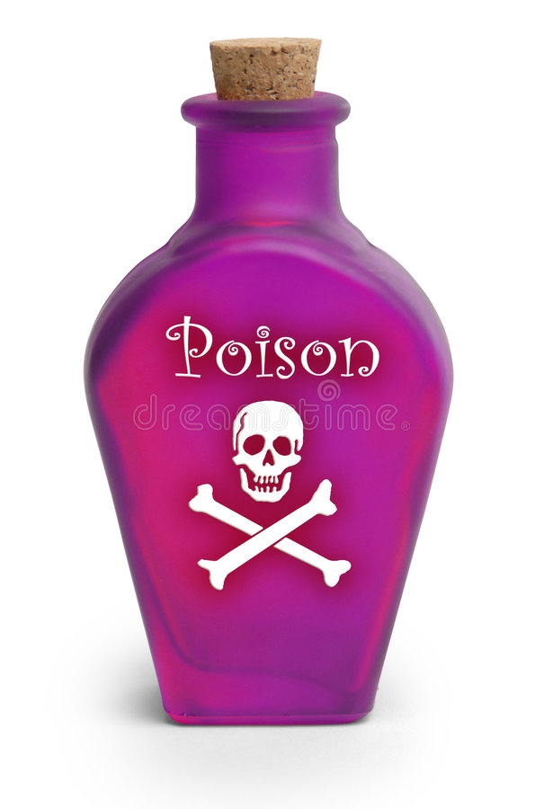 Download Poison on White stock photo. Image of poison, bottle, crossbones - 3213938