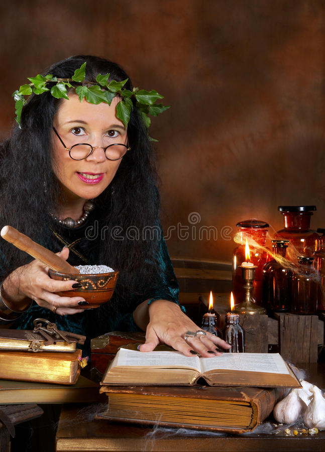 Poisoned herbs stock image