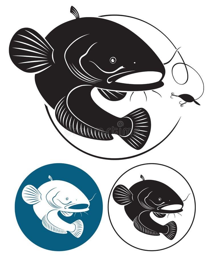 Poisson-chat illustration de vecteur