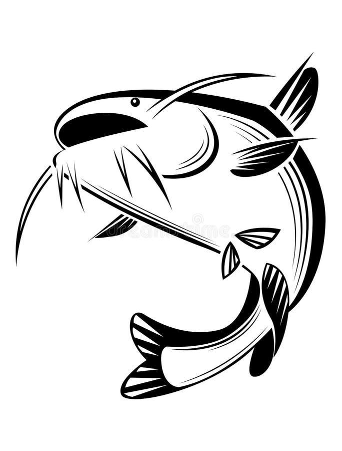 Poisson-chat graphique, vecteur illustration de vecteur